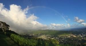 Rainbow over Manoa Valley, Honolulu, Hawaii