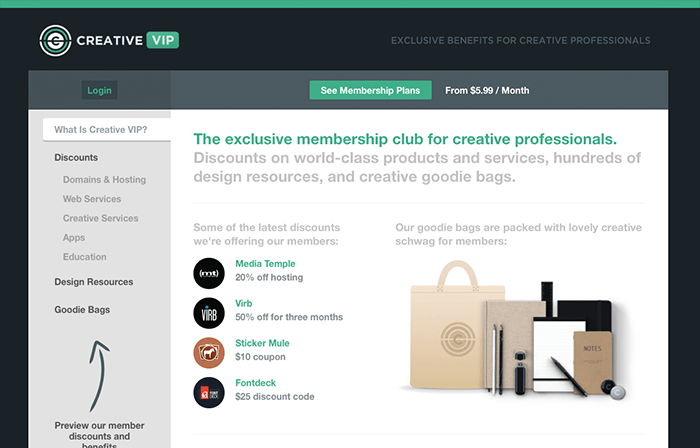 Inspiration & Discounts With a Creative VIP Membership