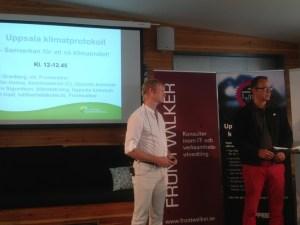Uppsala Klimatprotokoll och BigBelly i Aömedalen