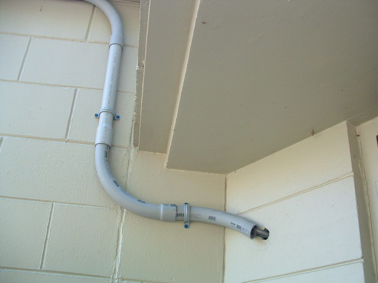 Figure 30 The Control Cable Conduits Where They Enter The Wall Of