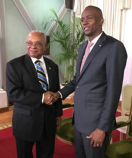 President of Haiti received credentials from Jeffrey Williams, The Bahamas' new abmassador