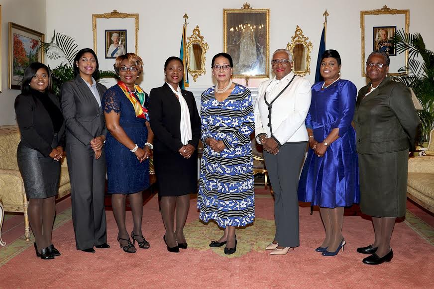 Commonwealth Women Parliamentarians  make courtesy call on the Governor General
