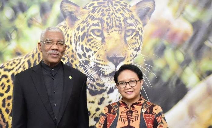 Indonesian foreign minister pays significant visit to Guyana