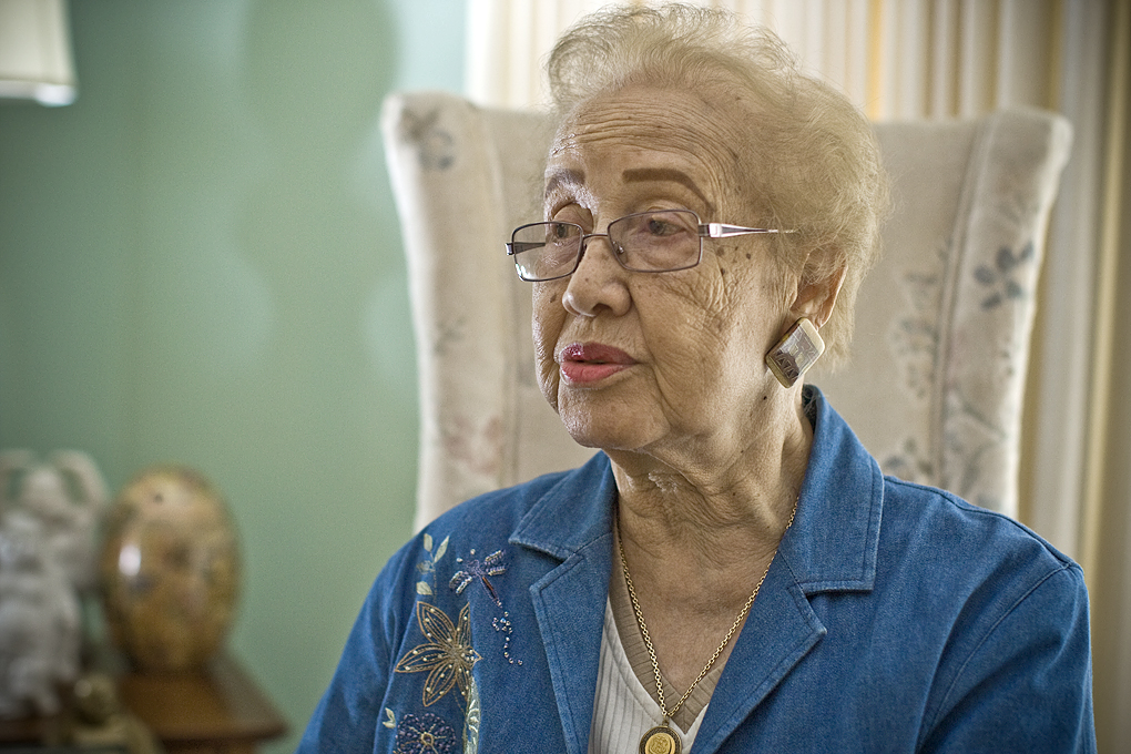 NASA mathematician Katherine Johnson being honored in bronze