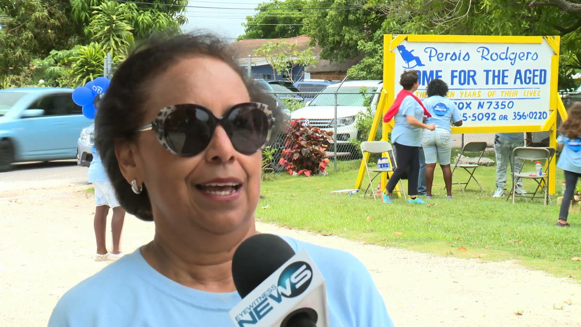Citi Bank Bahamas helps the aged