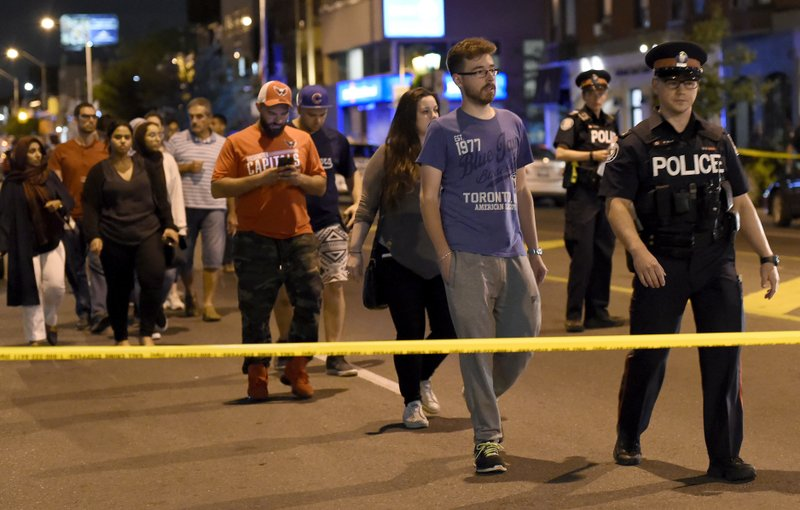 The Latest: 2 victims and gunman dead in Toronto shooting