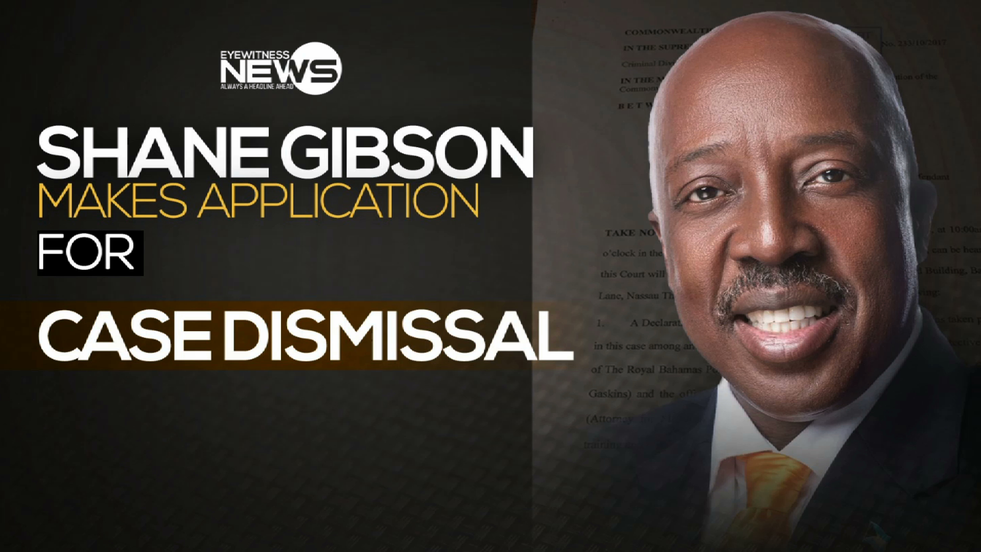 Gibson applies for court case dismissal