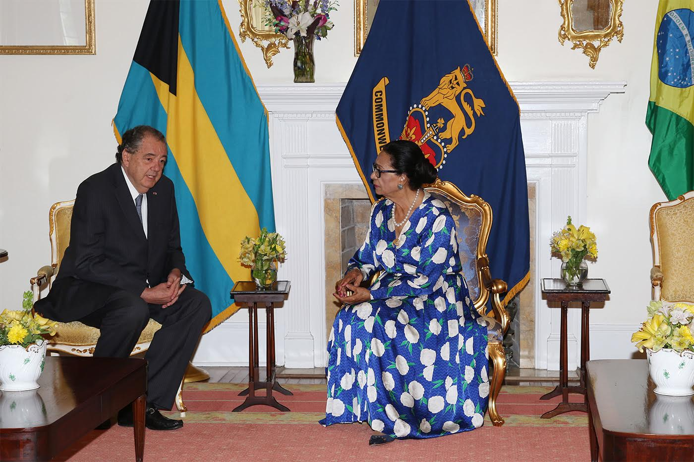 Brazil ambassador pays farewell courtesy call on Governor General
