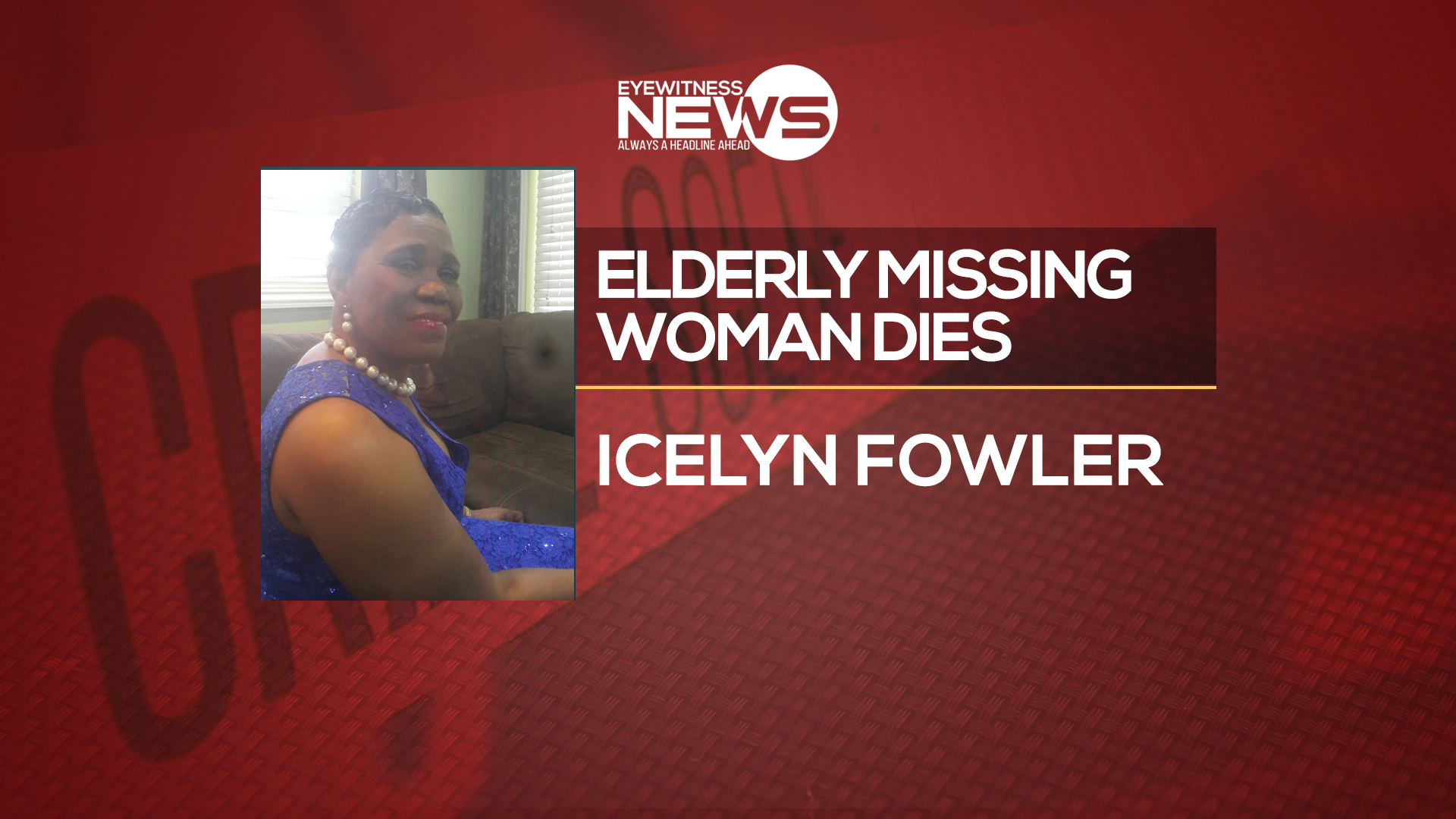 Missing elderly woman found dead