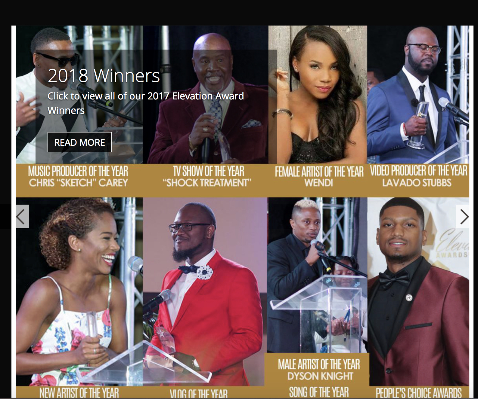 Elevation Awards announced