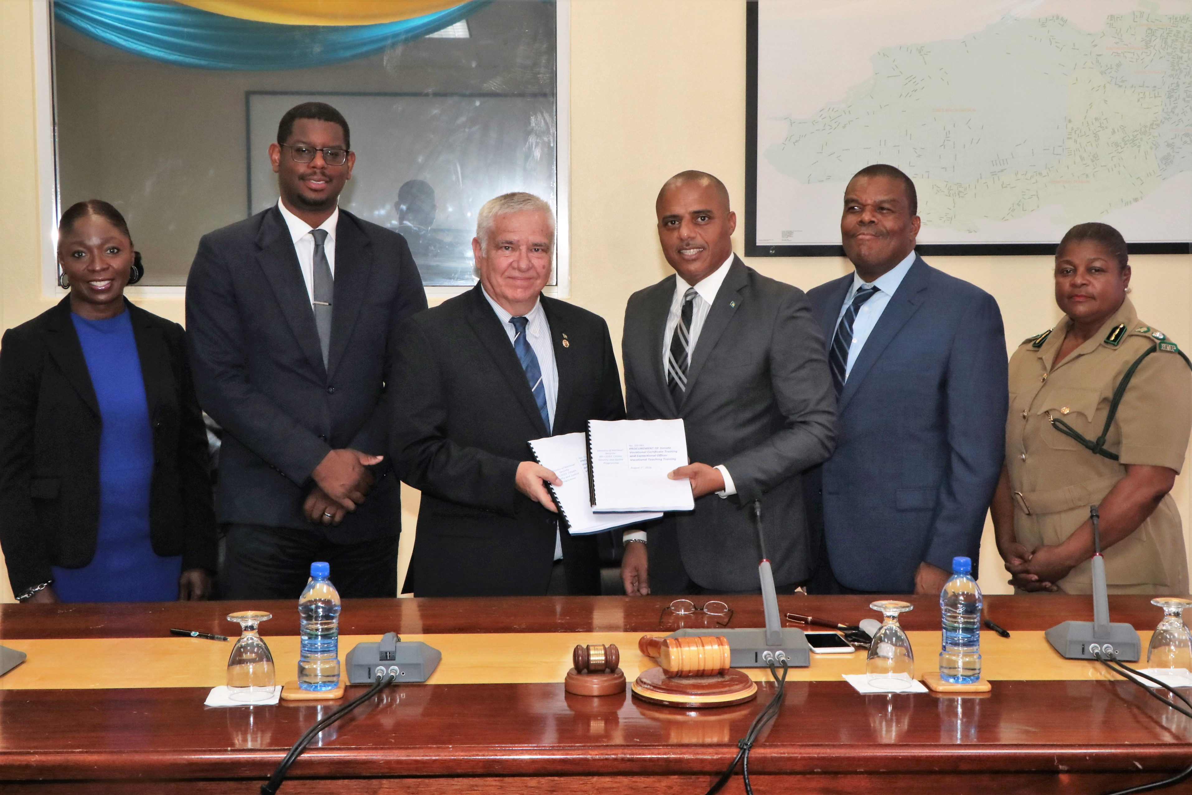 Govt. signs contract to train 600 inmates, 7 corrections officers
