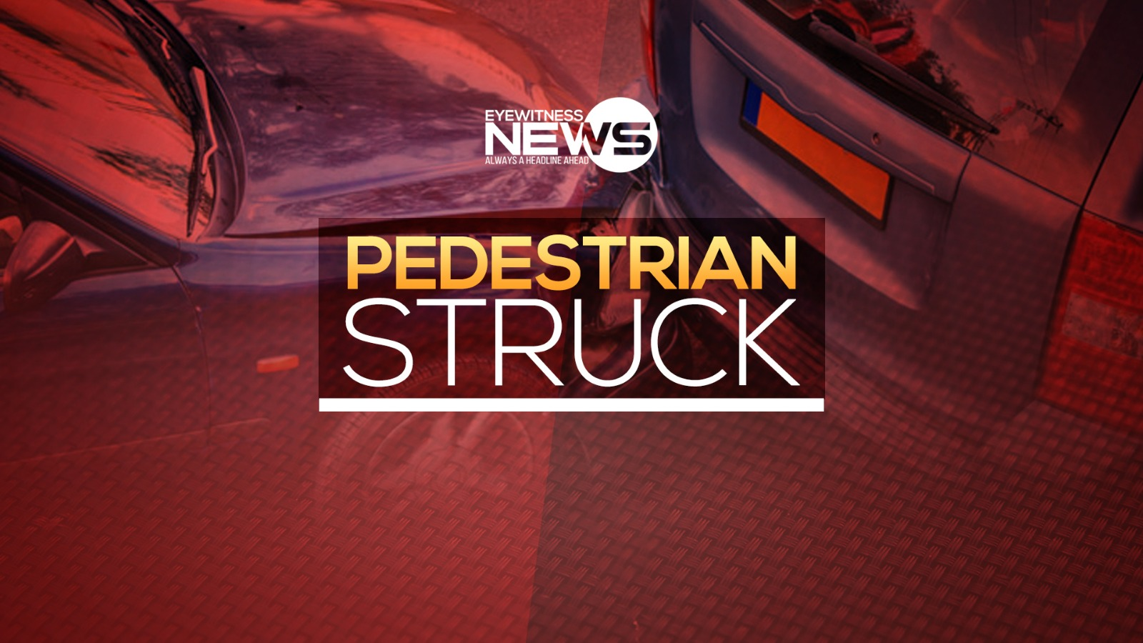 Pedestrian fights for life in hospital