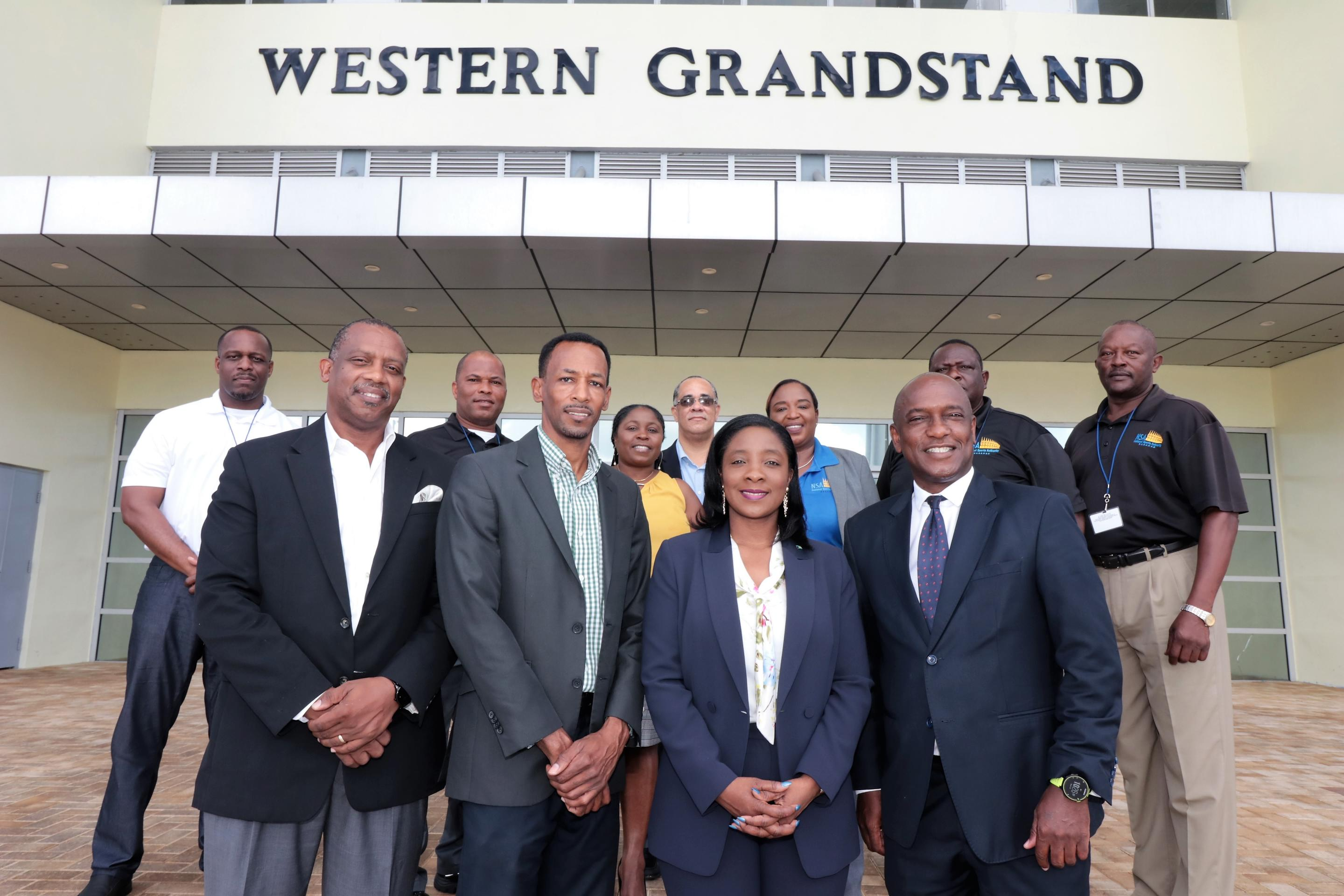 Sports minister tours NSA venues at QE Sports Centre