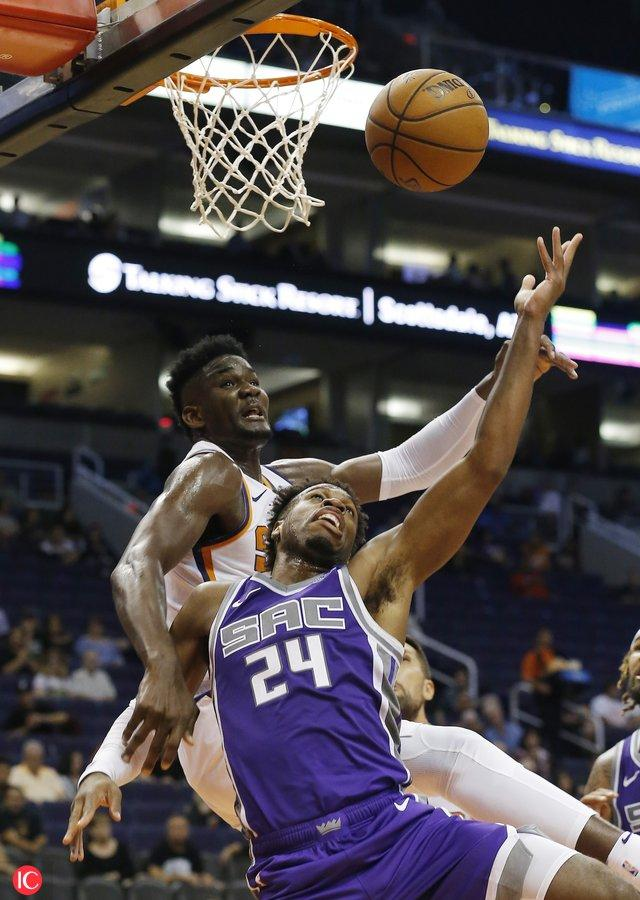 Hield, Kings win preseason debut over Ayton and the Suns