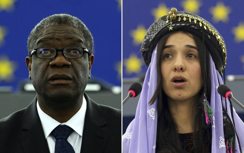 Nobel Peace Prize honors the fight against sexual violence