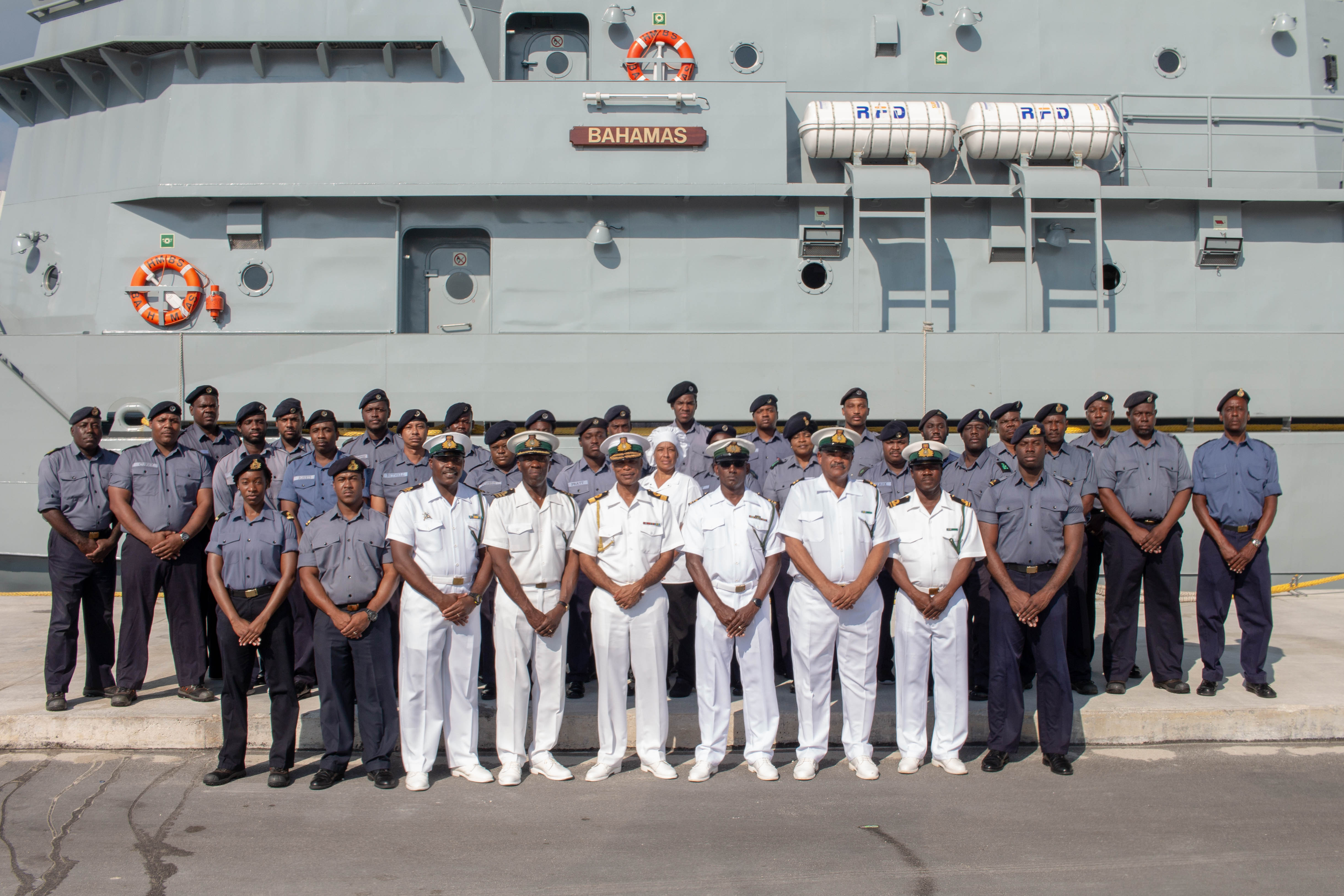 HMBS Bahamas arrives from the Netherlands