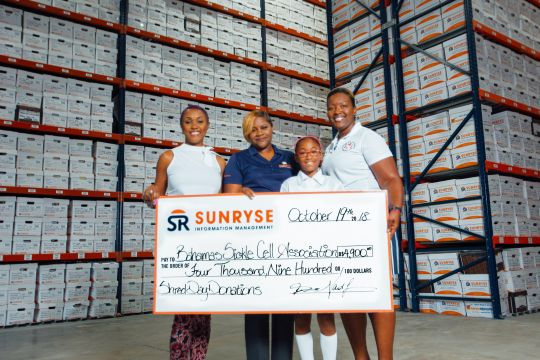 Sunryse shred day nets $4,900 for Bahamas Sickle Cell Foundation