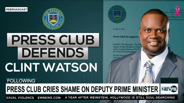 Press Club in support of Journalist Clint Watson