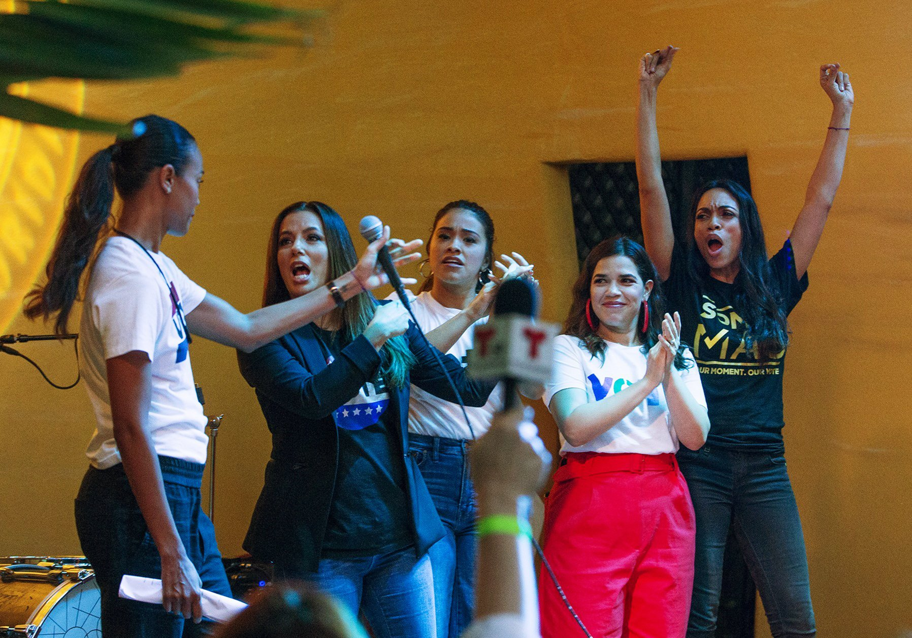 Longoria, Ferrera, Saldana and more rally for Latino votes
