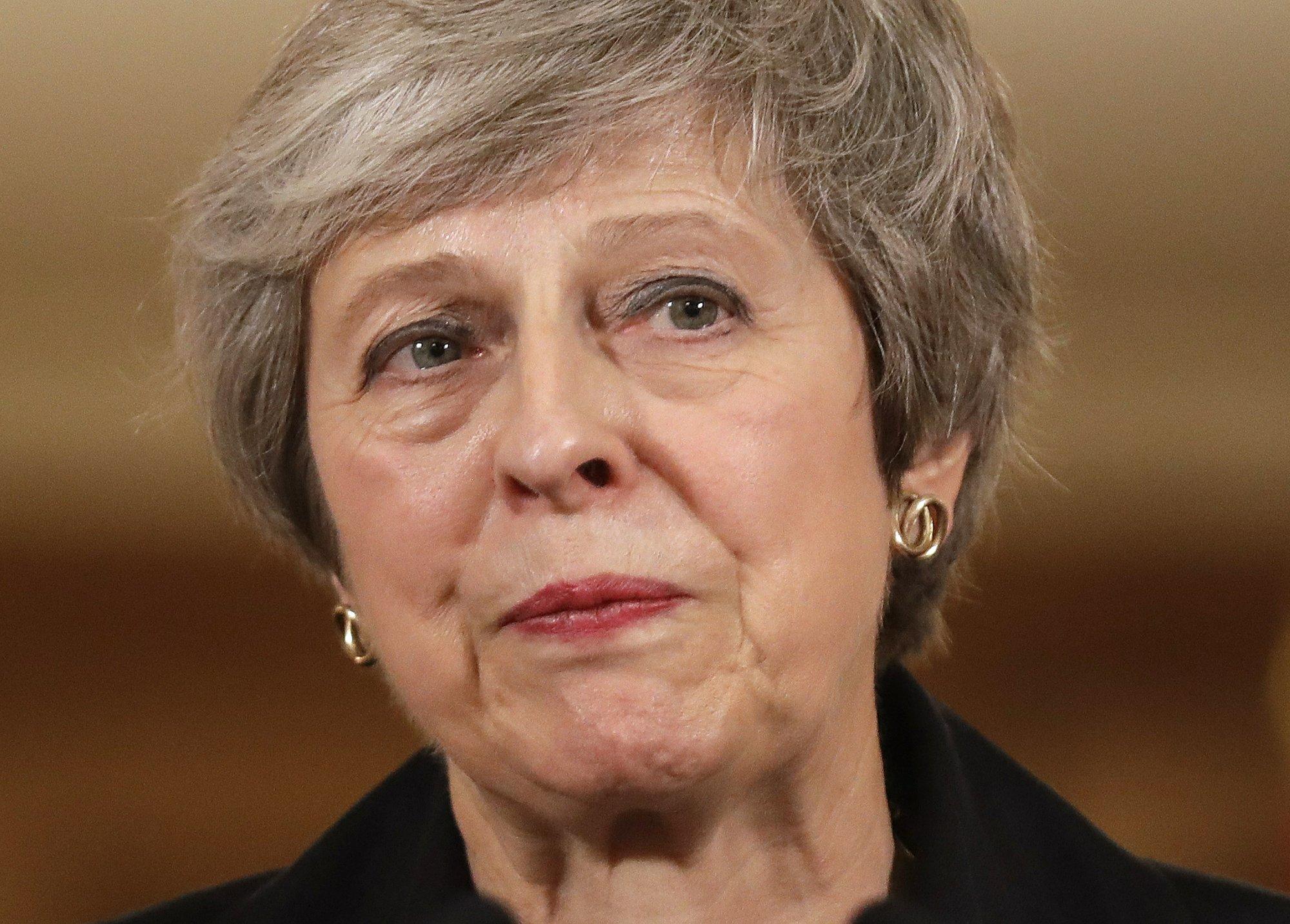 UK leader warns ousting her won't make Brexit talks easier