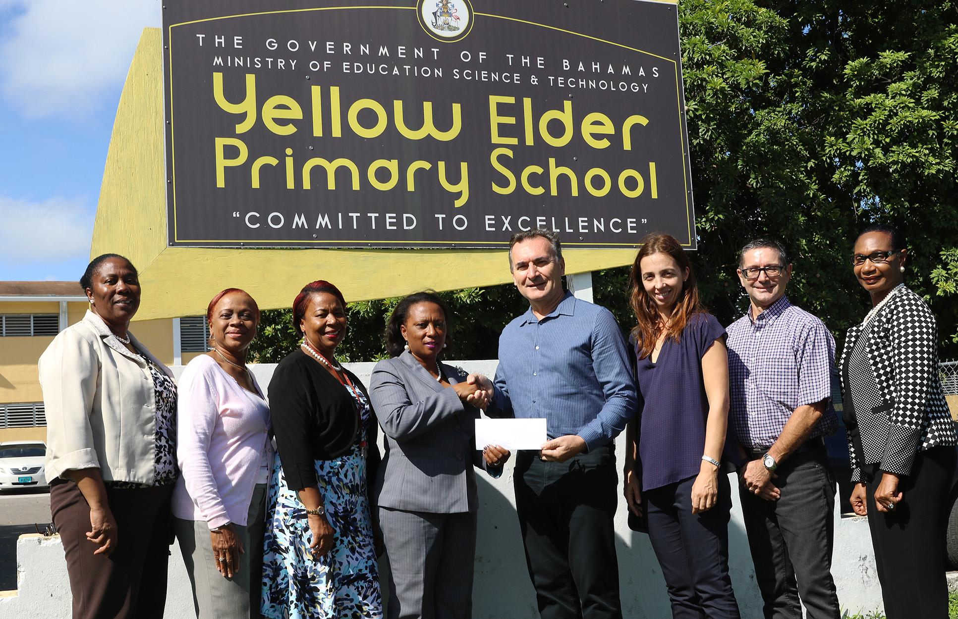 Italian Bahamian community donates to Yellow Elder Primary