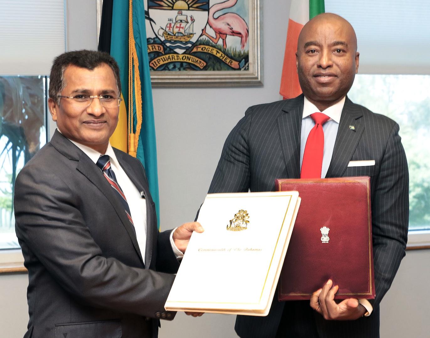 The Bahamas, Republic of India sign visa waiver agreement