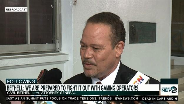 Gov't. still in talks with attorneys of gaming operators