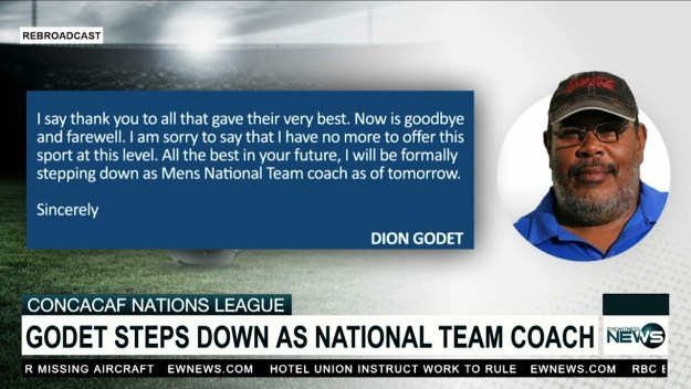 Godet steps down as national team coach