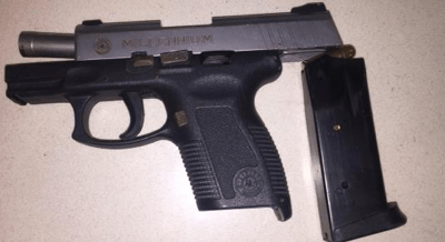 Police recover .45 pistol and ammunition