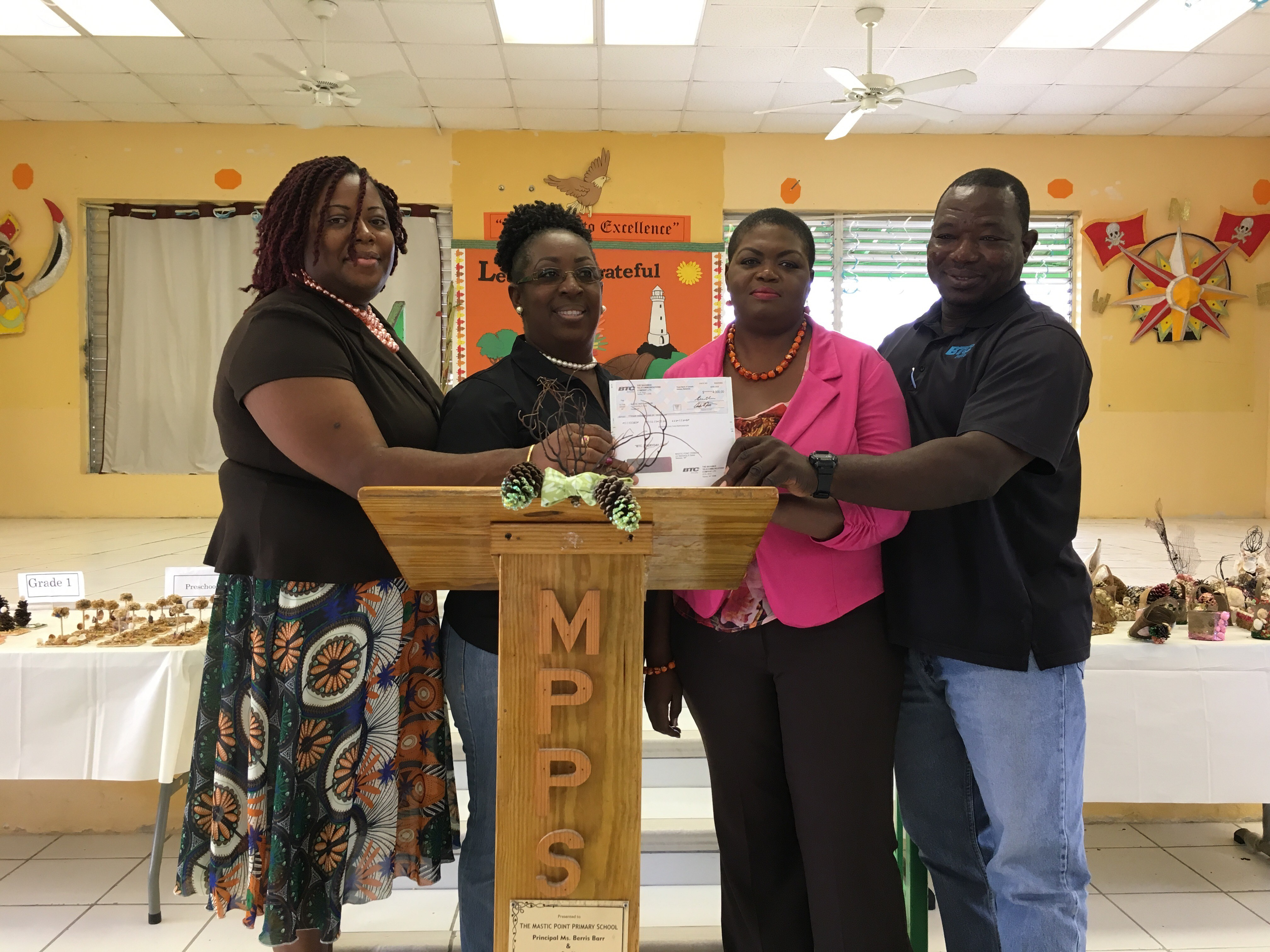 Mastic Point students get an early Christmas present from BTC