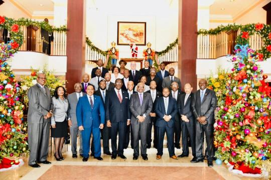 Parliamentarians engage in annual Christmas luncheon