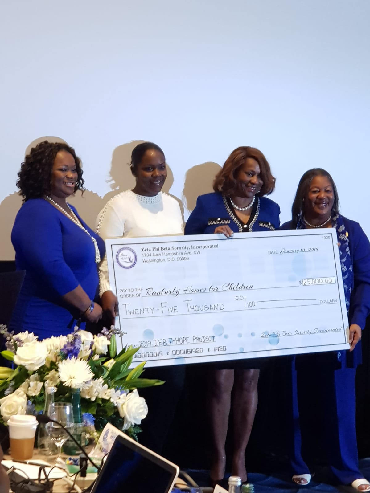 Zeta Phi Beta Sorority, Incorporated Gives $25K to The Ranfurly Home for Children