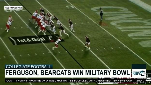 Ferguson and the Cincinnati Bearcats win Military Bowl