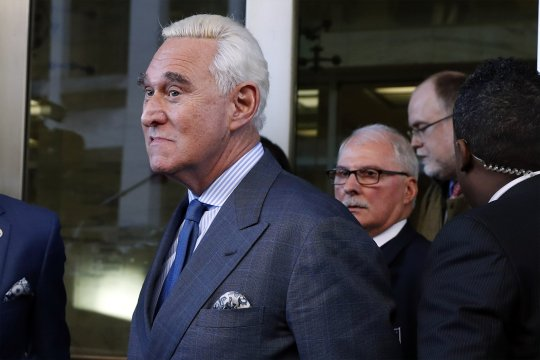 Trump ally Stone gets gag order after 'crosshairs' post