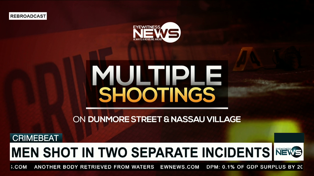 Men shot in two separate incidents