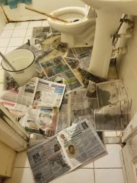 Tenants fed-up with sewerage issues at complex