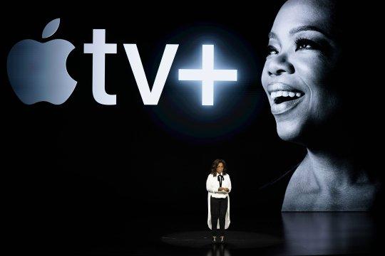 Oprah, Spielberg help Apple launch new streaming service