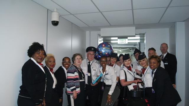 British Airways pilot ends career with retirement flight to LPIA