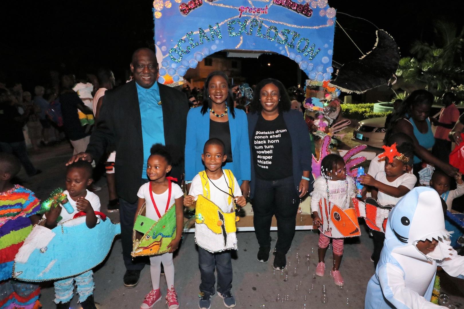Rolle cheers on at San Salvador Junior Junkanoo Parade