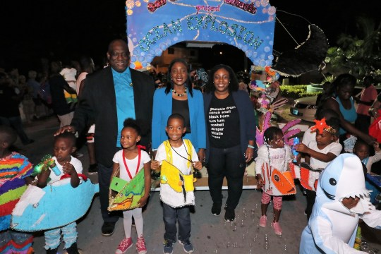 Rolle cheers on at San Salvador Junior Junkanoo Parade