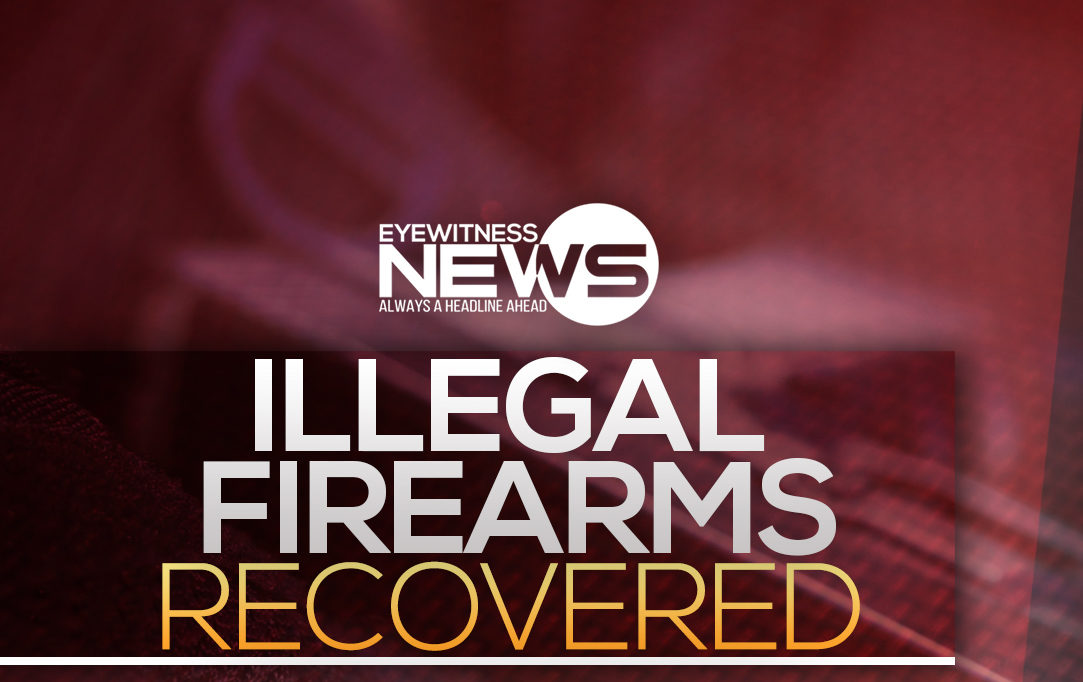 Police recover several illegal firearms over the weekend