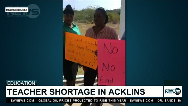 Students in Acklins demonstrate over teacher shortage