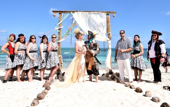 Pirate wedding on Goodman's Bay