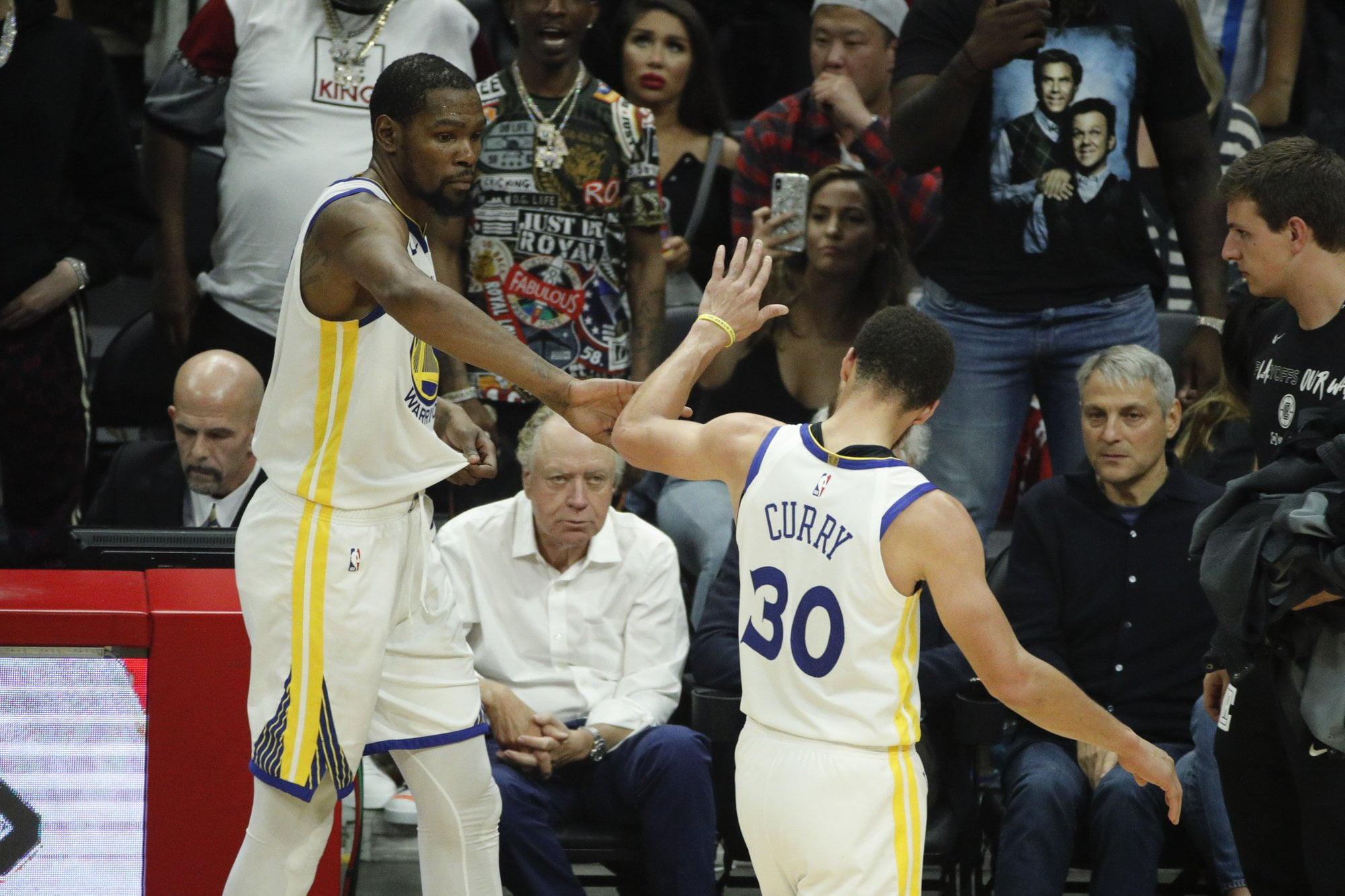 Durant has 50, Warriors beat Clippers 129-110; Rockets next