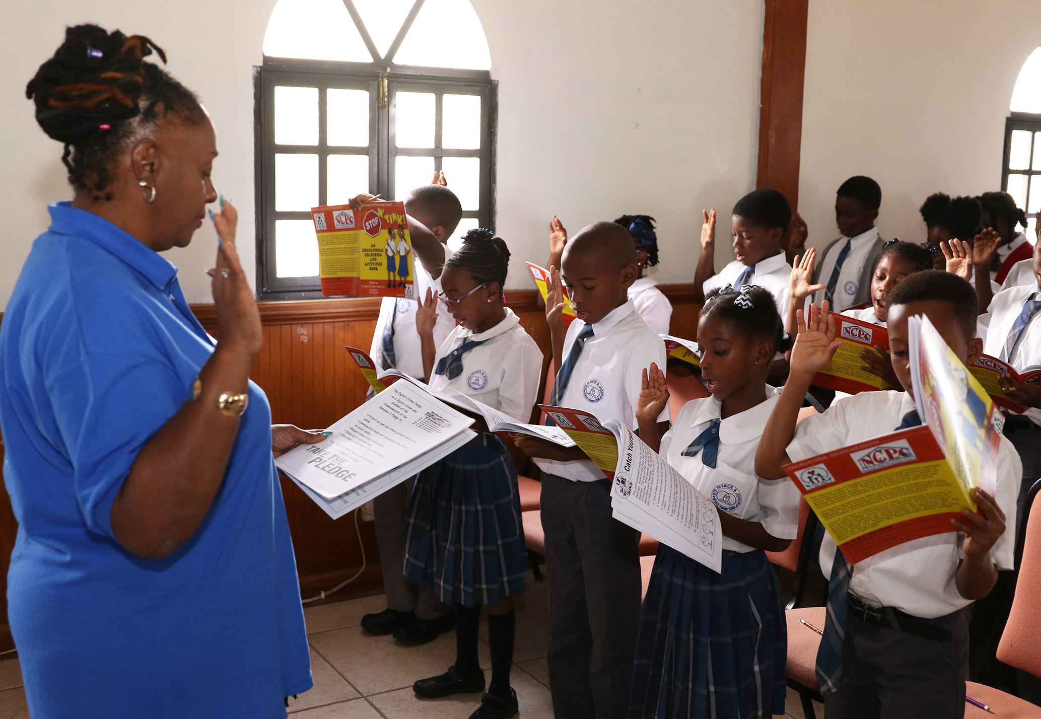 St. Francis and Joseph School 'Shockers' take child protection council's digital citizens pledge