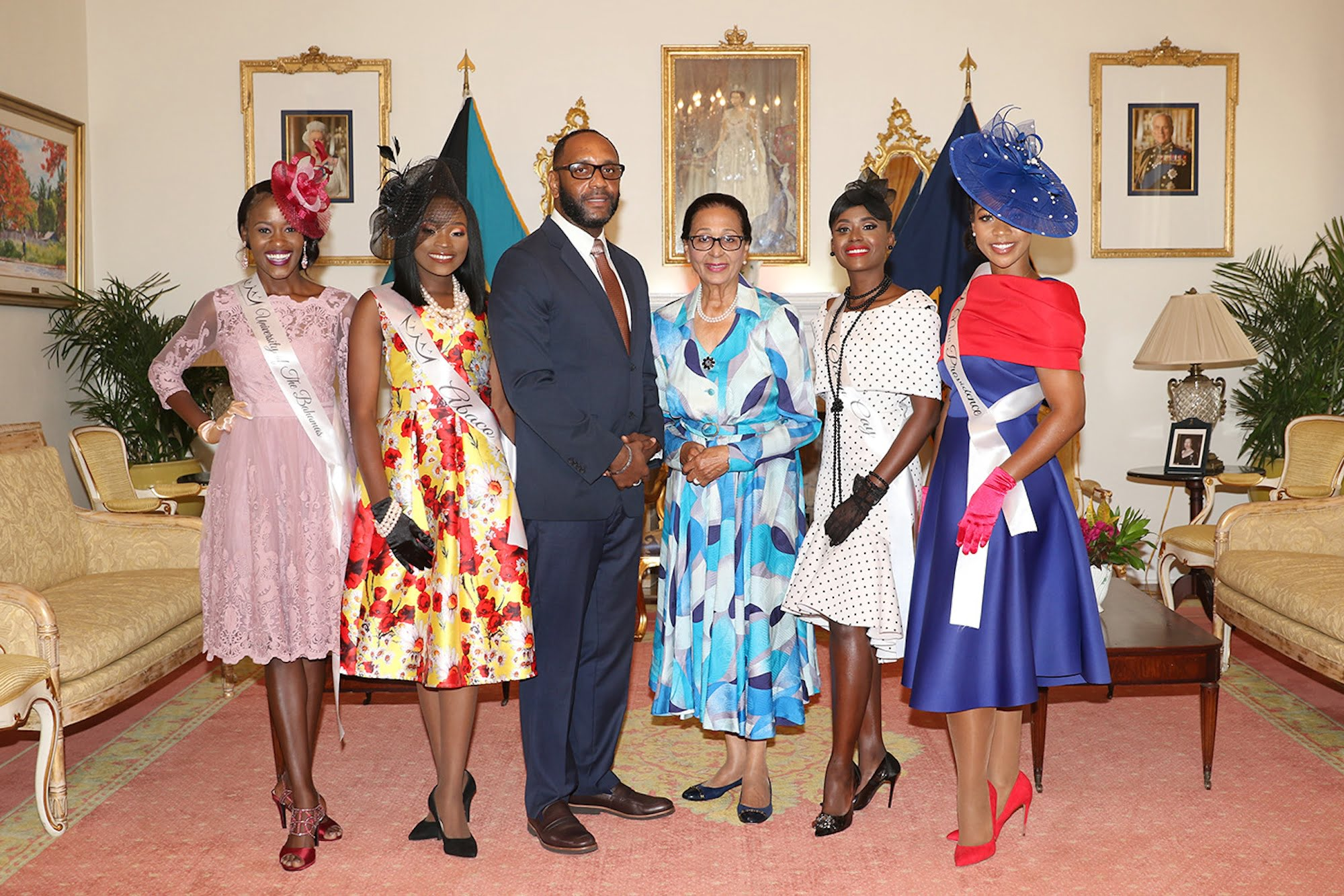 2019 Miss World Bahamas contestants pay courtesy call on Governor General