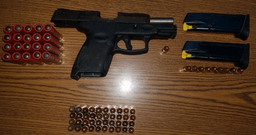 Illegal firearm and ammunition recovered, male in custody