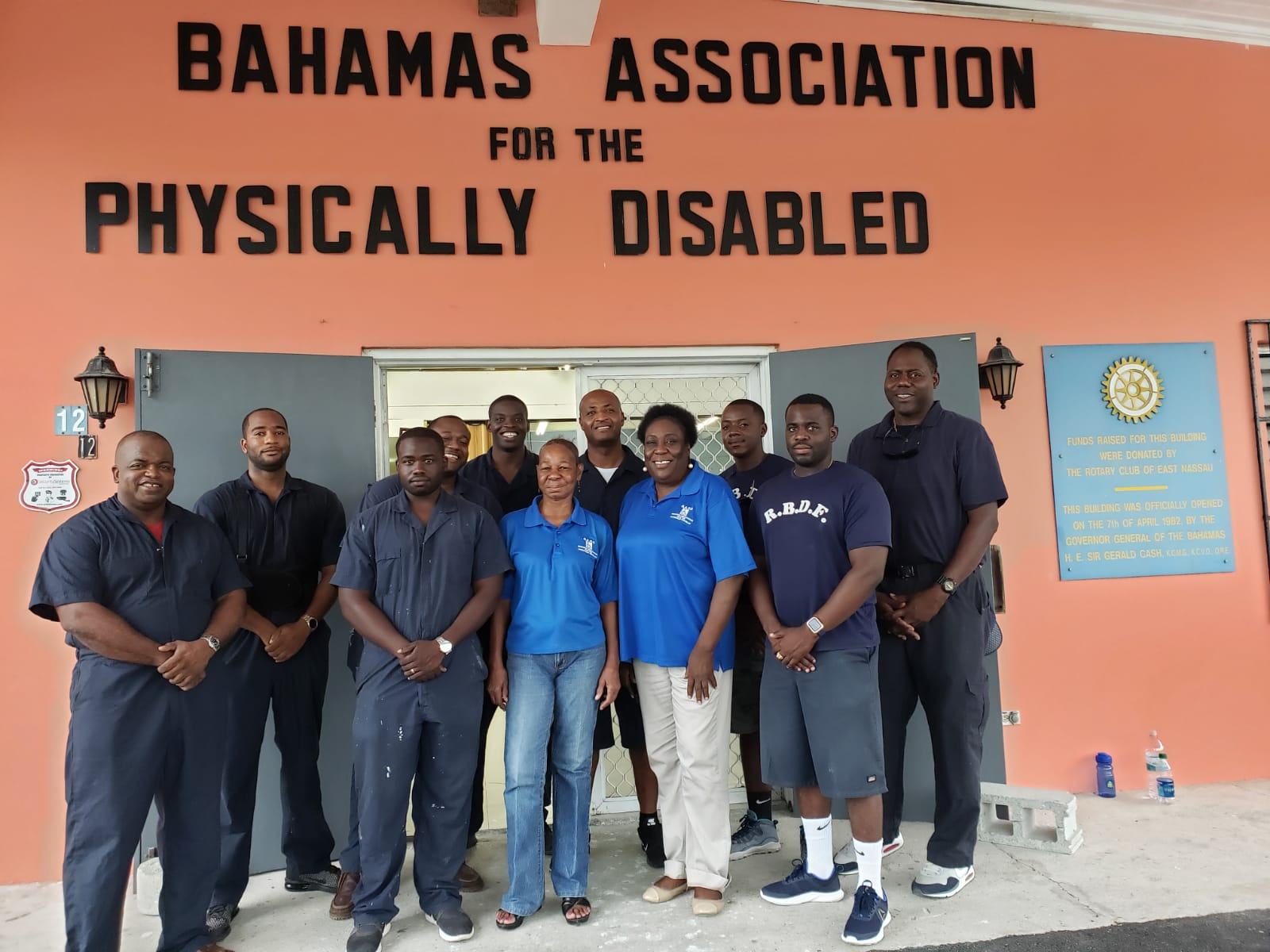 RBDF engineering team performs charitable work at disability school