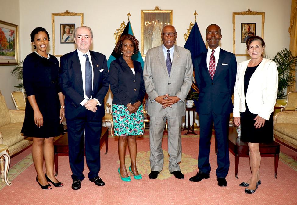 Bahamas Feeding Network courtesy call on Governor General