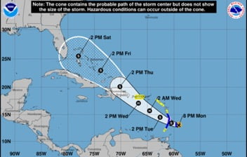 Storm Expected to Hit Southern Bahamas Thursday